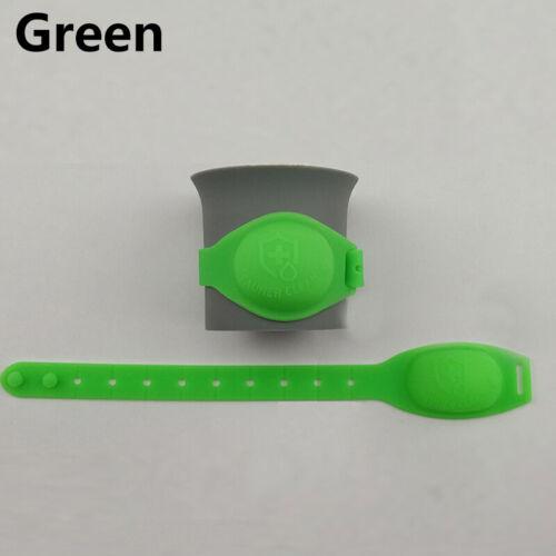 Silicone Réutilisable Bracelet Bracelet main savon distributeur de bande avec bouteille plastique