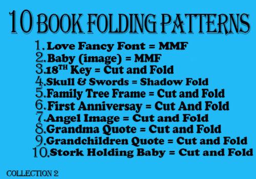 Libro De Plegado patrones Plegable-libro 10 patrones Plegable - oferta introductoria