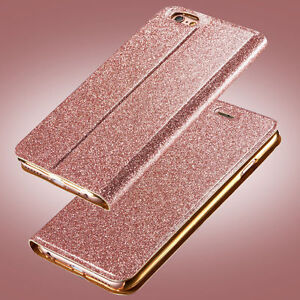Luxury-Glitter-Leather-Magnetic-Flip-Card-Wallet-Case-Cover-For-iPhone-Samsung