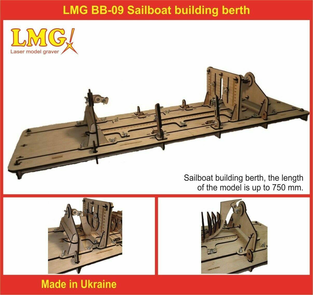 LMG BB-09 Sailboat building berth for plastic model kit, storing system, stand