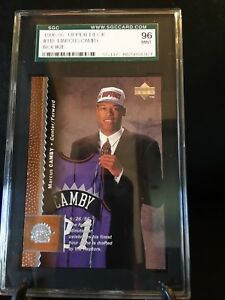 1996-97-Upper-Deck-MARCUS-CAMBY-Rookie-118-SGC-graded-Mint-96-Toronto-Raptors