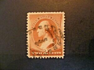 USA 1883 $.02 Washington #210 Shield With #1 Cancel VF Used - See Description