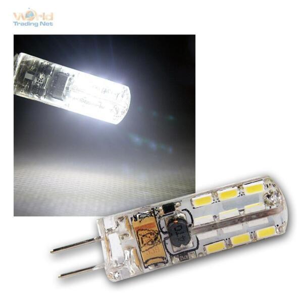 10 X Lampada Led Attacco Pin G4, 24 Smd 110lm Bianco Freddo Lampadina 12v