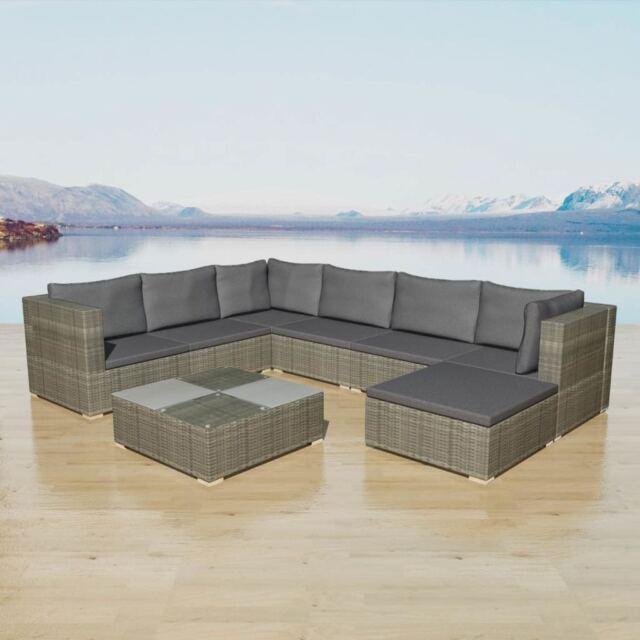 Vidaxl Garden Sofa Set 24 Piece Rattan Wicker Patio Outdoor Lounging Furniture