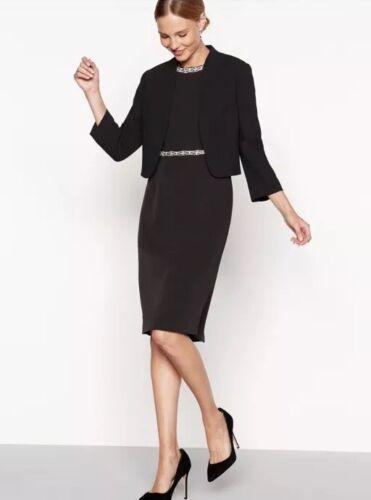 B 14 Jenny Dress 130 Taglia Shift impreziosito Ella Packham Black wpqPR6H
