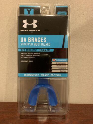 Under Armour UA Braces Strapped Mouthguard Blue #6