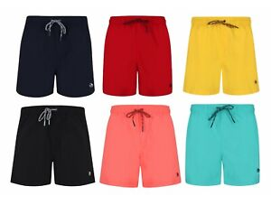 Mens-Swim-Shorts-Plain-Mesh-Lining-Quick-Dry-Ex-Store-Swimming-Summer-Beach-New