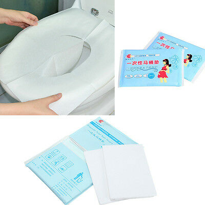 New Disposable Paper Toilet Seat Covers For Camping Travel Sanitary 1 Pack 10pcs