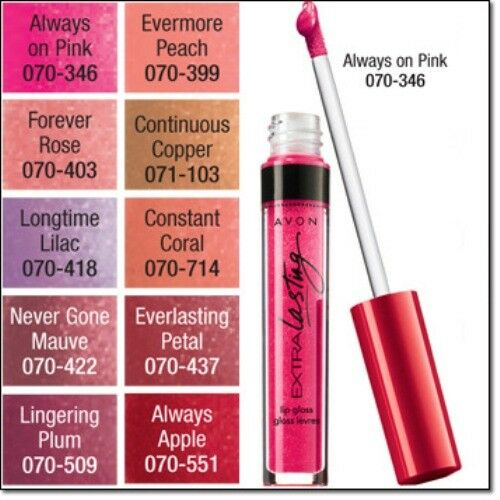 Avon  EVERLASTING  Lip Gloss, Choose Your Shade ~ NEW ~ Fresh in Sealed Wrappers