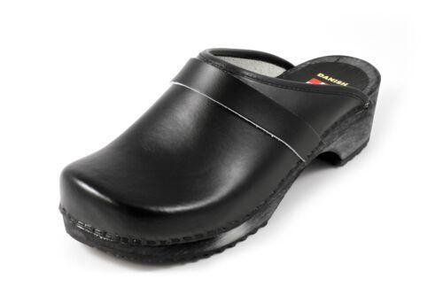 Danish Design Clogs schwarz mit schwarzer Sohle