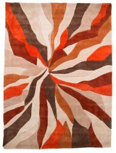 Infinite-Splinter-Tapis-Rectangulaire-orange-marron-salon-Plancher-Confort