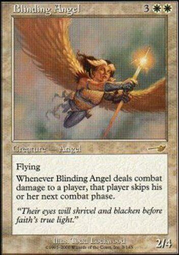 Blinding Angel Magic mtg Moderate Play English Nemesis x1