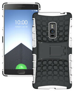 WHITE-GRENADE-GRIP-RUGGED-TPU-SKIN-HARD-CASE-COVER-STAND-FOR-ONEPLUS-TWO-2