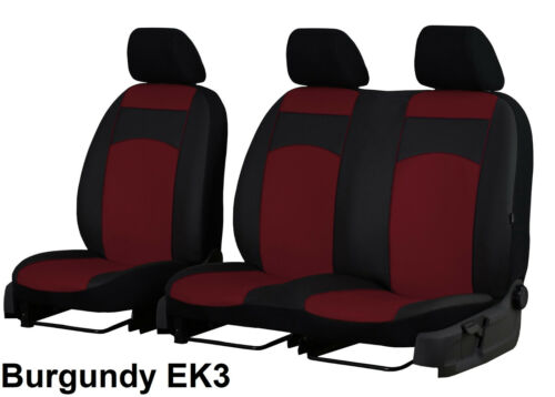 RENAULT TRAFIC 2+1 2014 PRESENT ECO LEATHER TAILORED SEAT COVERS MADE TO MEASURE
