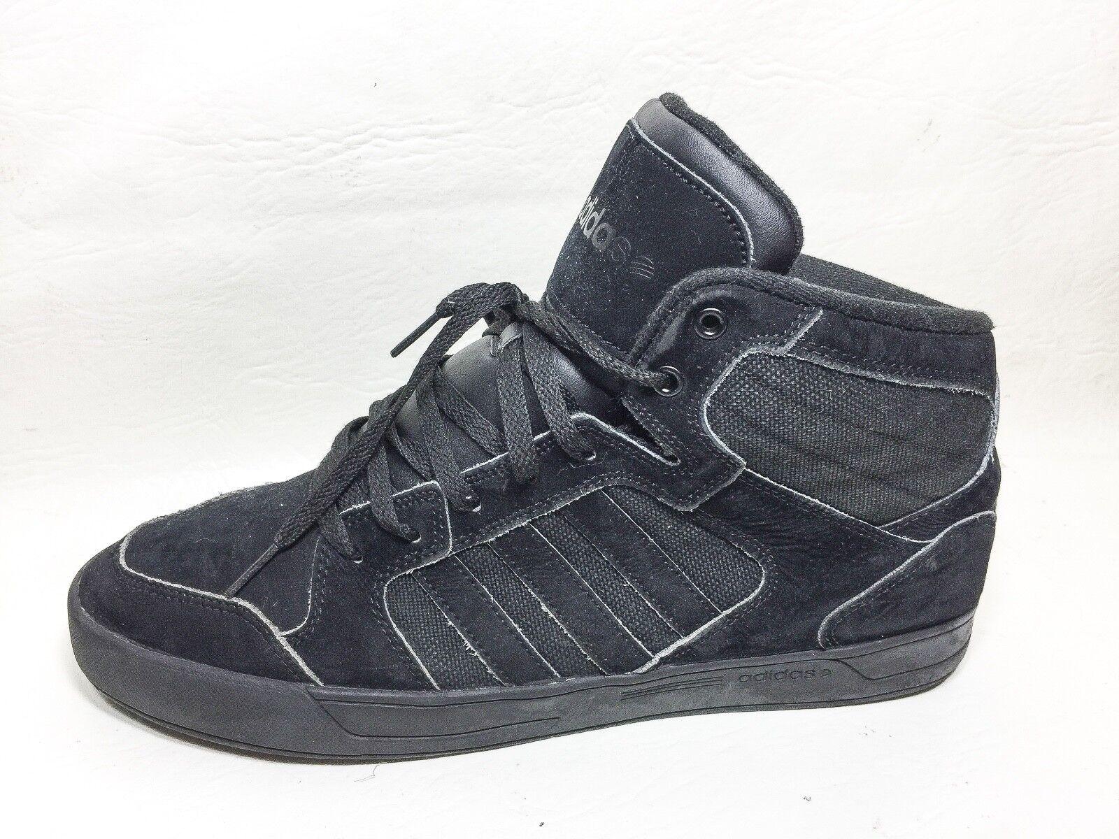 Adidas Neo Label Hi Cut Athletic Sneakers Mens Shoes Size 12 Eur 11.5 Black
