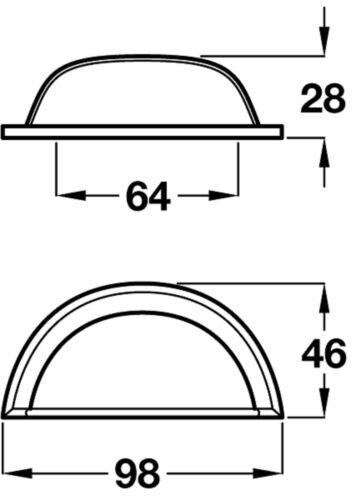 Belmont Cup Handle Kitchen//Bedroom//Cabinet//Door//Cupboard//Drawer Pewter