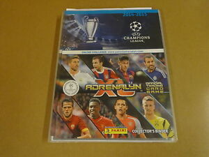 PANINI-ADRENALYN-XL-BINDER-UEFA-CHAMPIONS-LEAGUE-2014-2015-INCL-ALL-360-CARDS