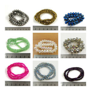 RONDELLE-CRYSTAL-BEADS-61-COLOURS-5-SIZES-BEADING-BRIDAL-JEWELLERY-MAKING