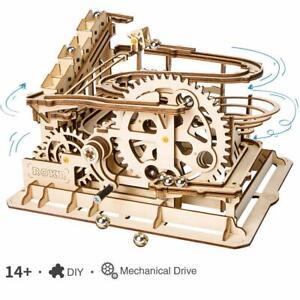 ROKR-3D-Puzzle-Marble-Run-Model-Kits-DIY-Waterwheel-Coaster-Handmade-Crafts-Toy