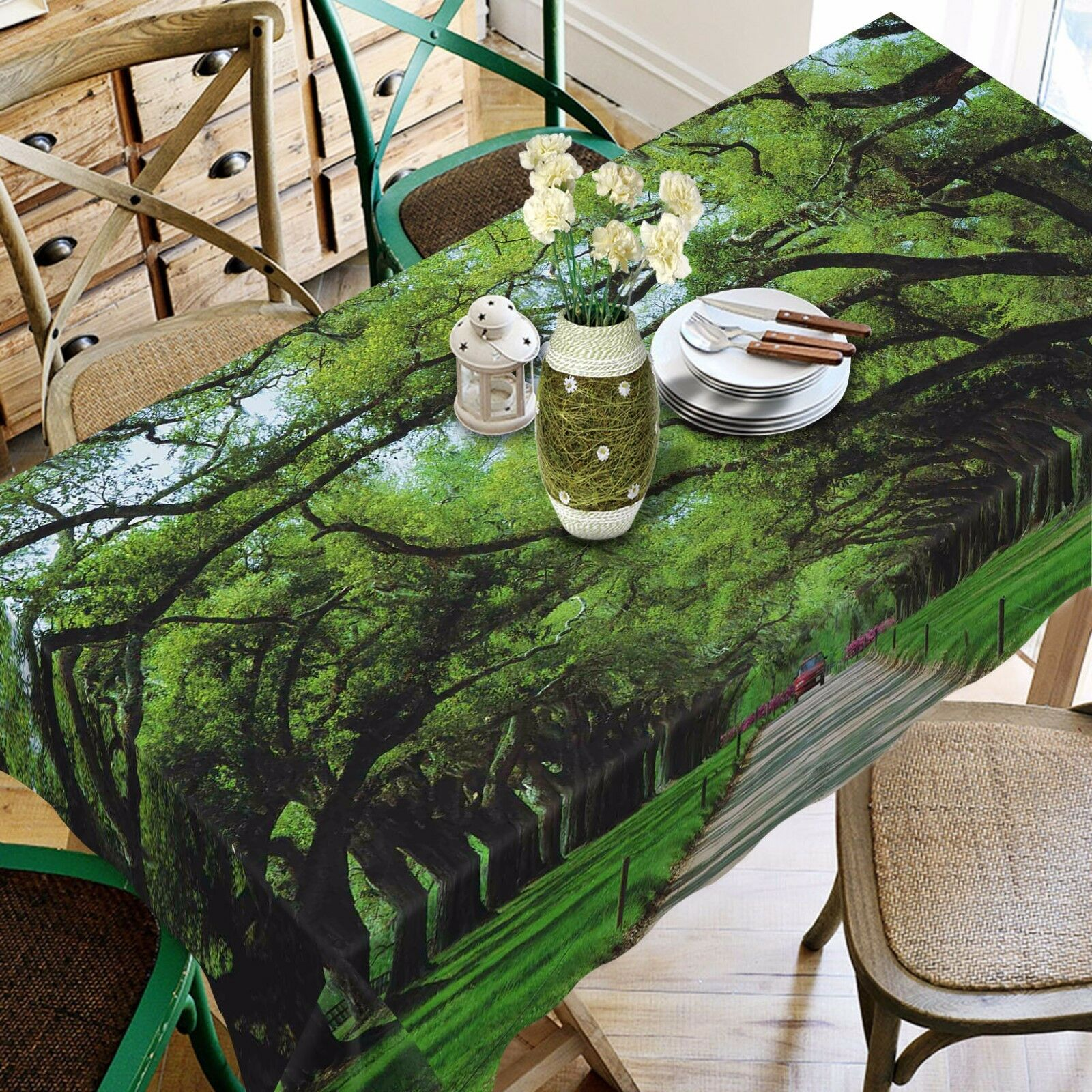 3D Tree 4282 Tablecloth Table Cover Cloth Birthday Party Event AJ WALLPAPER AU