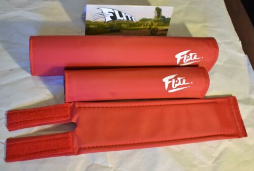 Flite Padset Pad Set 3 pc for Old School BMX Racing Bike USA made Color Choice