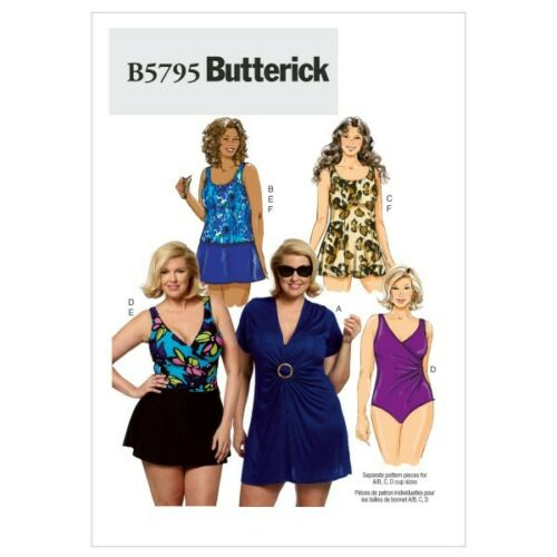 Butterick Sewing Pattern 5795 Women/'s Cover Up Top Swimsuit Skirt /& Briefs
