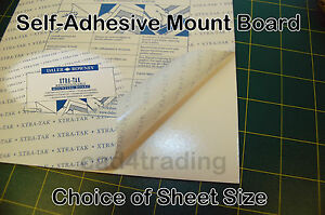 Self Adhesive Mount Mounting Board Re Positionable Xtra Tak Card