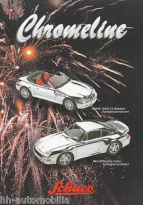 Sanft Schuco Chromeline Prospekt 1998 Modellautos (d+gb) Brochure Model Cars Miniatur