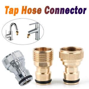 Connecteur-Adapteur-Arrosage-Tuyau-Eau-Robinet-Laiton-Fixation-Embout