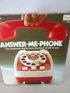 Vintage-1976-battery-operated-talking-toy-034-Answer-Me-Phone-034-by-Sears