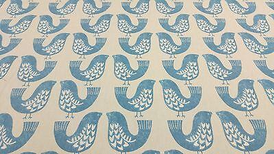 Kiwi Birds Cluck Cluck Green capri Cotton Curtain//Craft Fabric