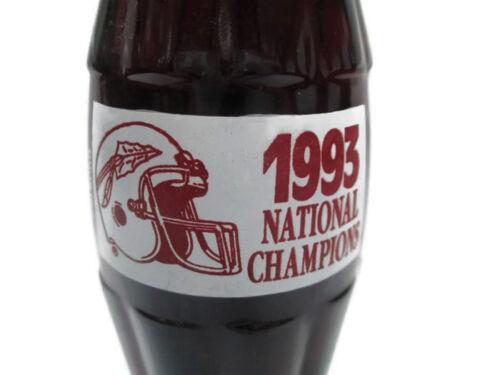 UNIQUE ITEM Coca-Cola 1993 FSU Nebraska Championship Bottle FSU