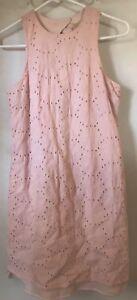 Nordstrom-HOPE-amp-HARLOW-Eyelet-Dress-Pink-Size-2-Sheath-Lined