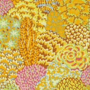 25-034-Remnant-Rowan-Kaffe-Fassett-Oriental-Trees-Cotton-Fabric-PWGP129-Yellow