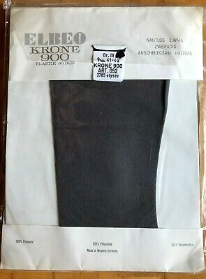 Elbeo Crown 900 Garter-Tights Size 40-41 Seamless Details about  /Vintage Nylons Black