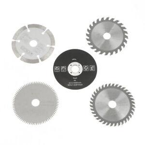 5x-85mm-15mm-Hartmetall-Kreis-Saege-Blatt-Kreissaegeblatt-Saegeblatt-fuer-Brennholz