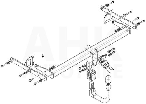 Kpl AHK Renault Megane IV 5-Tür ab 16 Anhängerkupplung abn.+ES 13p uni