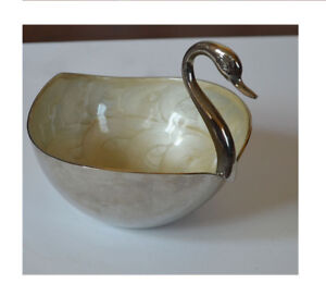 Silver-Metal-Swan-Shape-Home-Decorative-Storage-Bowl-from-India