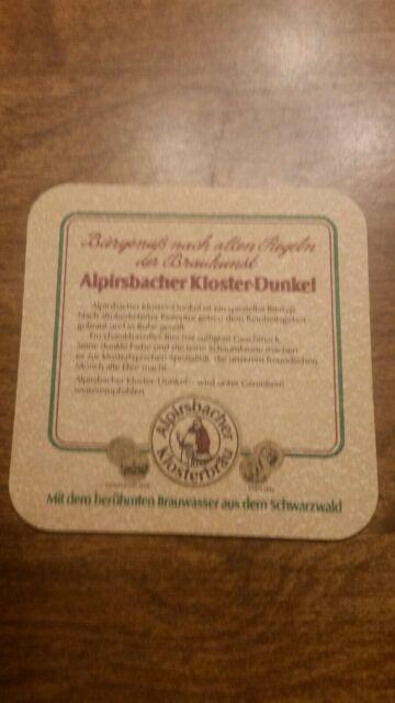 Alpirsbacher Klosterbräu Kloster Dunkel-Alpirsbach Germany Brewery Beer Coaster