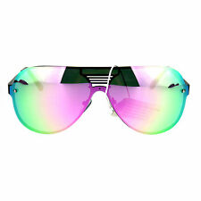 ed5534f935 item 1 Mens Futuristic Robotic Rusta Color Mirror Shield Aviator Sunglasses  -Mens Futuristic Robotic Rusta Color Mirror Shield Aviator Sunglasses