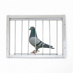 30x26cm Bob Wires Bars on Frame Entrance Tumbler for Racing Pigeon Birds Cage