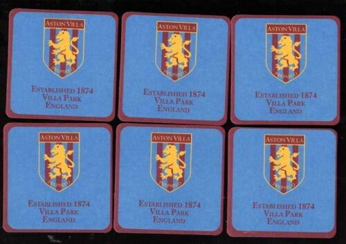 ASTON VILLA  F.C Coasters FREE POSTAGE UK EST 1874 Official Crested Beer Mats