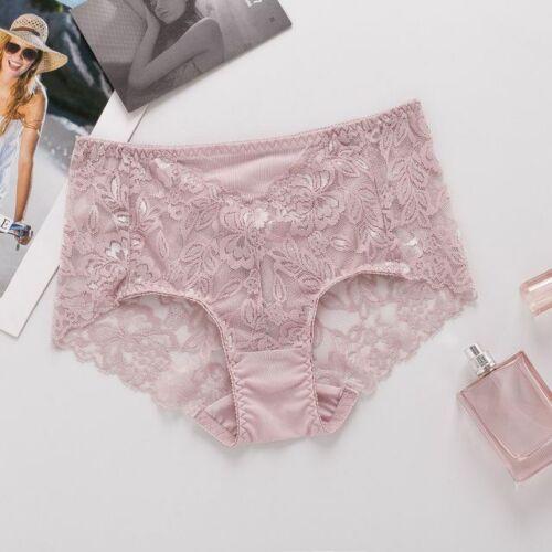 4 PACK 100/% Silk Women/'s Full Lace Panties Briefs Underwear Knickers M-XL SS013