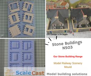 Model-Railway-Stone-Buildings-mould-OO-Gauge-real-stone-model-scenery-NS03