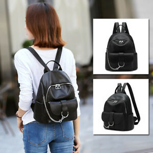 Great-Quality-Faux-Leather-Small-Mini-Backpack-Rucksack-Daypack-Travel-Bag-Purse