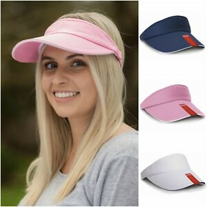 Sun Visor Hat Adjustable Sports Tennis Golf Headband Cap Men Women ... 709e34530d3