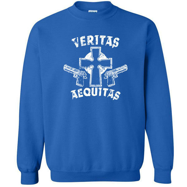 145 Veritas Aequitas Funny Adult Crew Sweatshirt