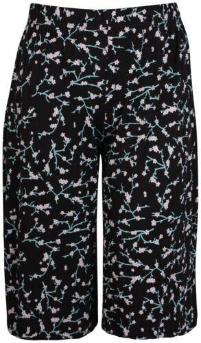Laddies plus Spot Imprimé Cachemire Femme Extensible Jambe Large Culottes Shorts 12-30