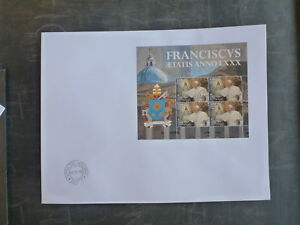 2016-VATICAN-CITY-80th-ANNIV-OF-THE-BIRTH-OF-POPE-FRANCIS-MINI-SHEET-FDC