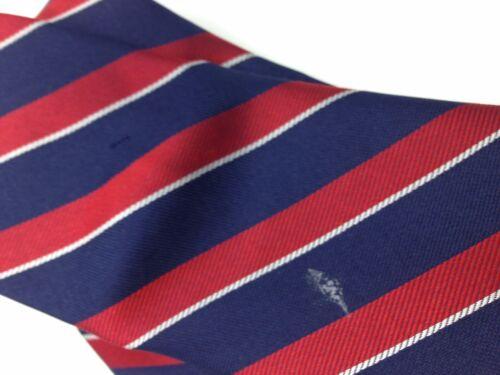 $125 TOMMY HILFIGER Men`s SILK TIE BLUE RED SLIM CLASSIC STRIPED NECKTIE 58X3.25